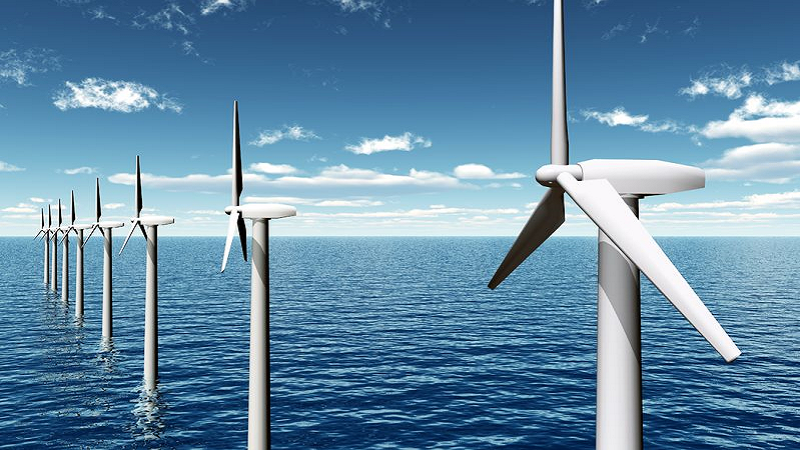 Wind Turbines on Offshore Wind Farm