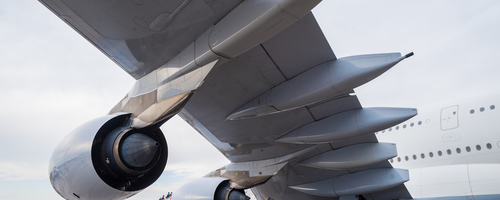 Aircraft wing and engine